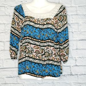 Pomeroy Blouse with Paisley Pattern